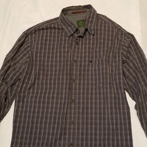 Timberlabd plaid button down mens size large